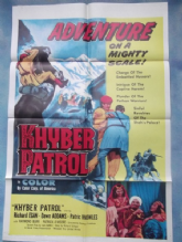 Khyber Patrol, Movie Poster, Richard Egan, Dawn Addams, Raymond Burr, '54